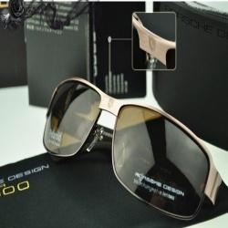 Очки солнцезащитные Porsche Design Polaroid P8485 с поляризацией,  бронзово-коричневые. 07ae07ede21