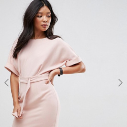 c8345e0e37b Короткое платье-футляр с поясом и D-образным кольцом ASOS Ultimate