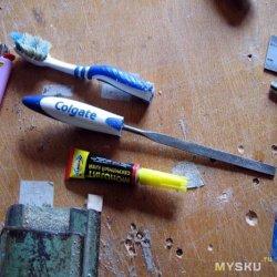Ручка системы Colgate, полезные изделия из старой зубной щётки
