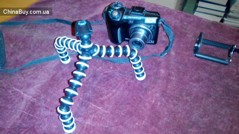 Buyincoins: Супербюджетная тренога (мини штатив) для смартфона и фотоаппарата [Tripod Bracket Holder]