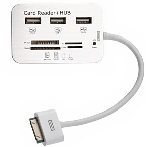 3-Port USB 2.0 Hub & Multi-card Reader Combo Kit
