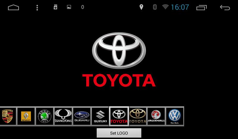 смена логотипа на китайской магнитоле