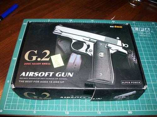 Коробка пистолета