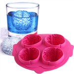 Brain Shaped 4-Grid Ice Cube Tray Assorted Color