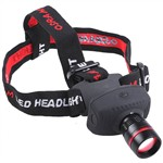 3W LED 3-Mode Zoomable Headlamp with Adjustable Strap