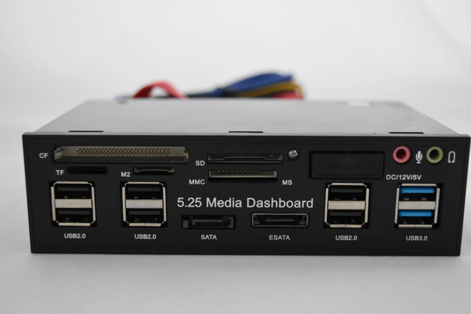 TVC-Mall: 5.25 inch USB 3.0 PC Media Dashboard Front Panel Card Reader HUB SATA eSATA - универсальный кардридер