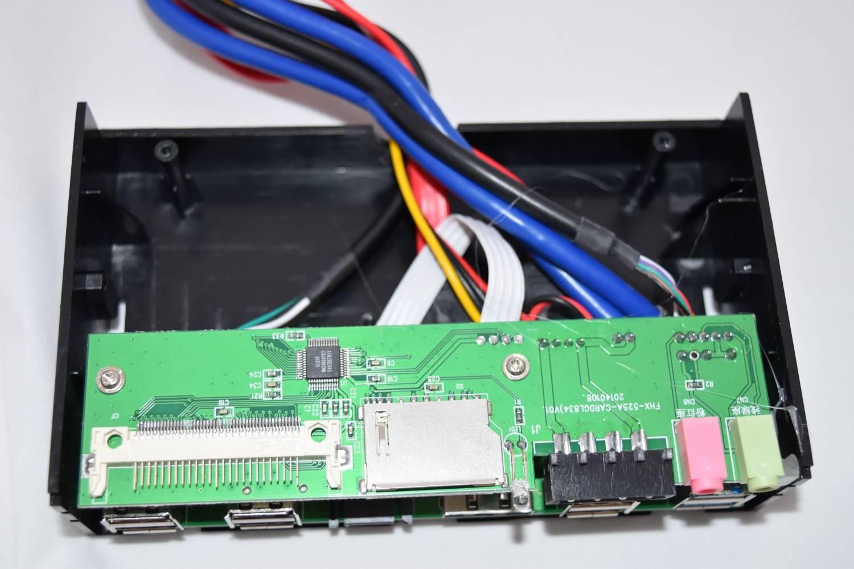 TVC-Mall: 5.25 inch USB 3.0 PC Media Dashboard Front Panel Card Reader HUB SATA eSATA - универсальный кардридер