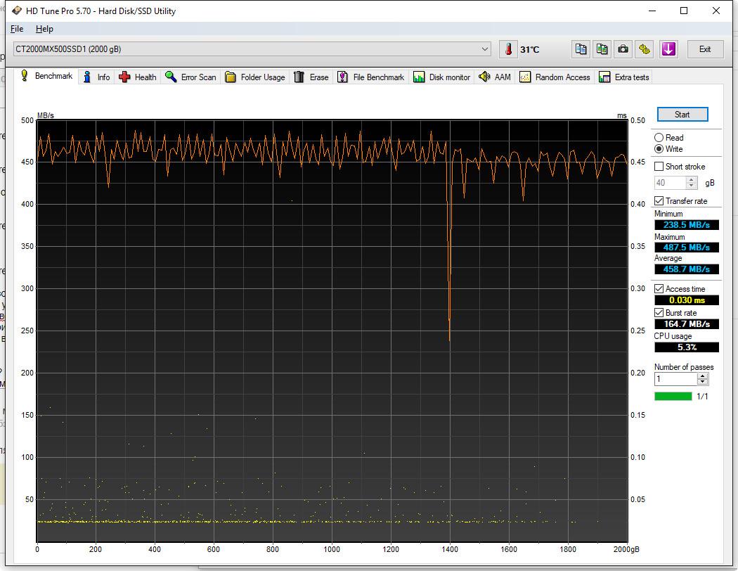 SSD Crucial MX500 2TB - много, быстро и относительно дёшево.