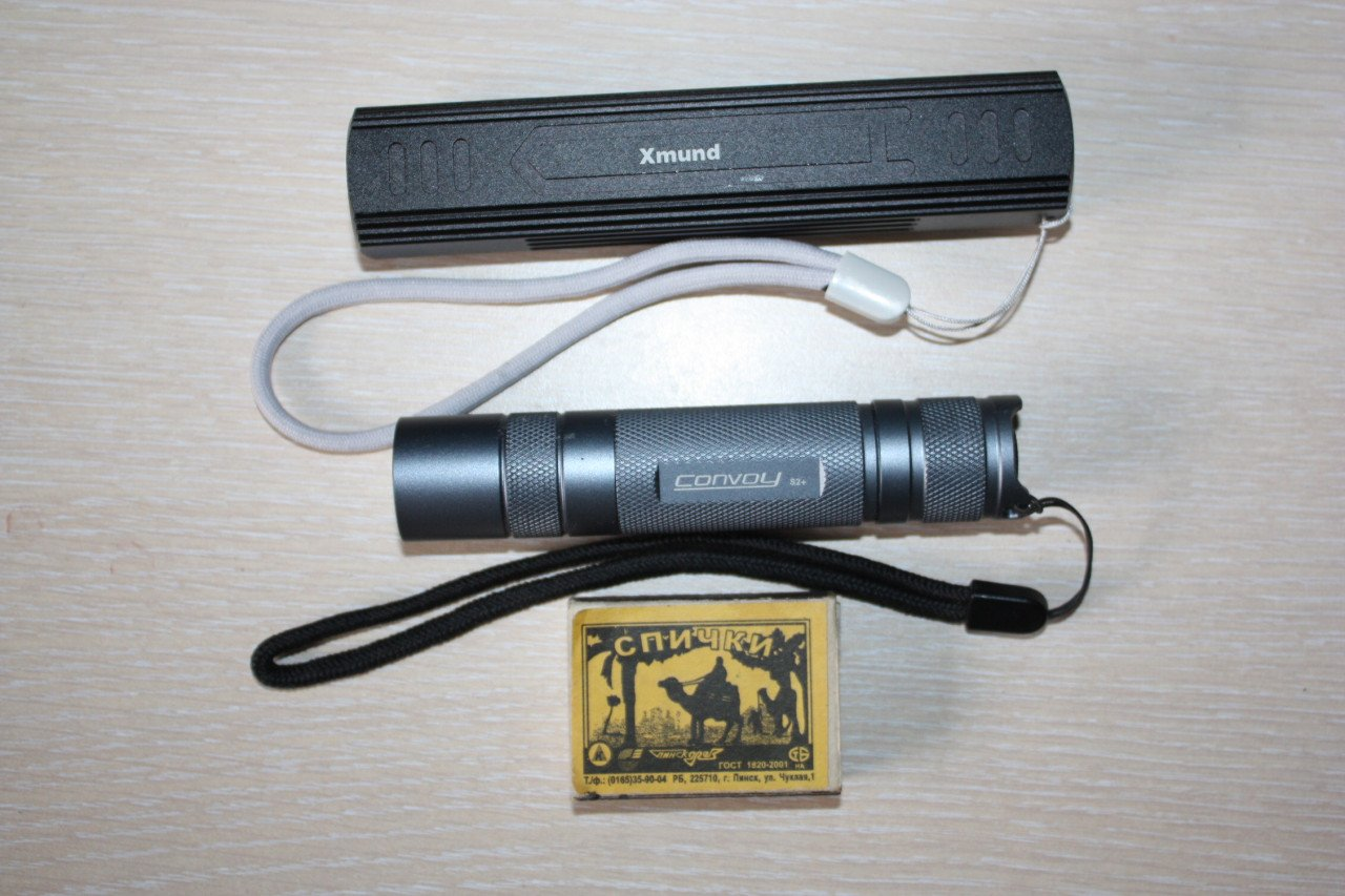 Xmund XD-FL8, фонарь и powerbank